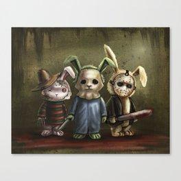 Horror Bunnies - Parody of Jason, Freddy and Michael Myers Canvas Print