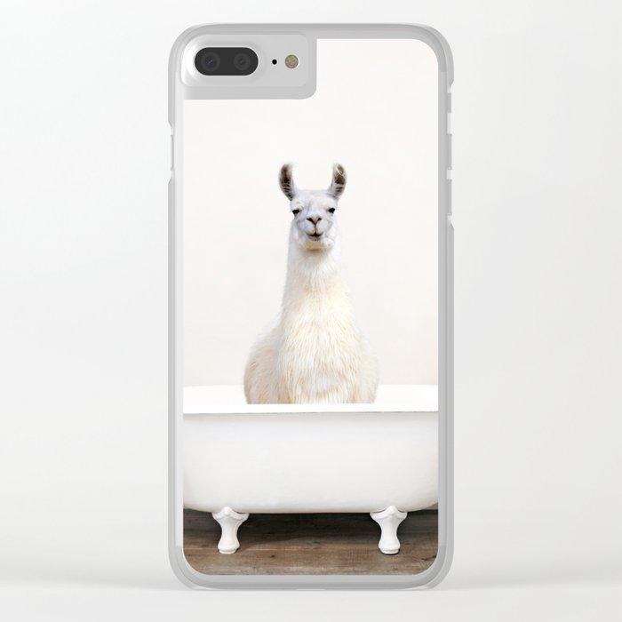 llama Bath (c) Clear iPhone Case