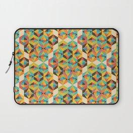 Retro Color Block kaleidoscopic Laptop Sleeve