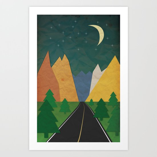 Somewhere going Nowhere Art Print