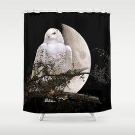 Snowy Owl A144 Shower Curtain