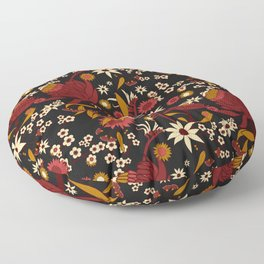 Australian Natives Red Blossom Floor Pillow