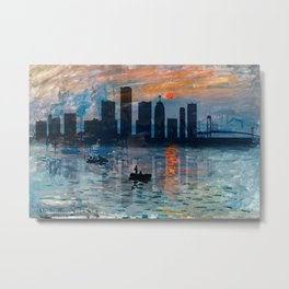 Detroit Skyline 5 Metal Print