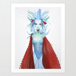 Blue Carmine Fairy Art Print