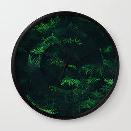 Green pine Wall Clock
