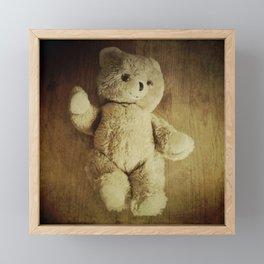 Old Teddy Bear Framed Mini Art Print