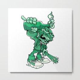 Anarchy Skeleton - Mountain Meadow Metal Print