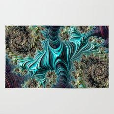 Aqua Spirals Rug