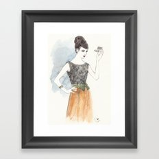 'Mary' Watercolor Fashion Illustration Framed Art Print