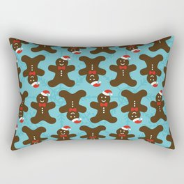 Christmas Gingerbread Man Rectangular Pillow