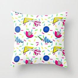 sew 80s Throw Pillow