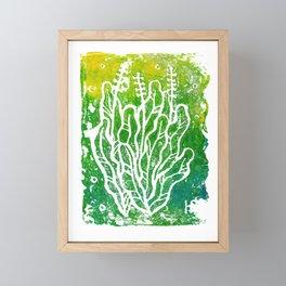 Summer Herbs, green version Framed Mini Art Print