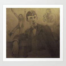 Aubrey and Beardsley Art Print