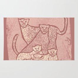 Family Cheetahs Rug