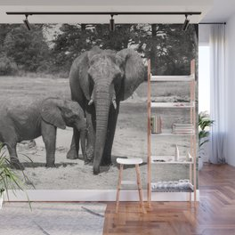 Elephant Mom & Baby Wall Mural