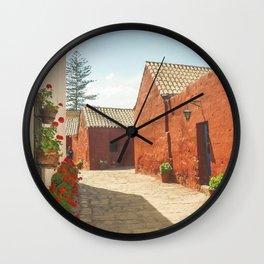 Street of Santa Catalina Monastery Wall Clock