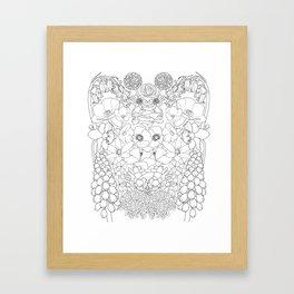 Mirrored Flowers Framed Art Print
