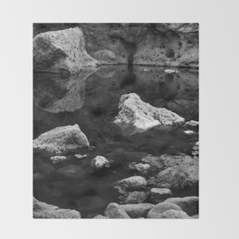Reflections on Shallow Water Throw Blanket