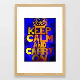Keep Calm & Carry On Framed Art Print