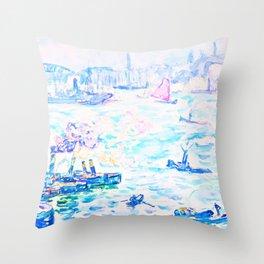 Paul Signac - Rotterdam - Digital Remastered Edition Throw Pillow