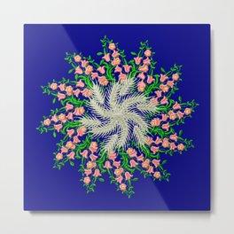 Mandala #103, Wheat, Symbol of Life Metal Print