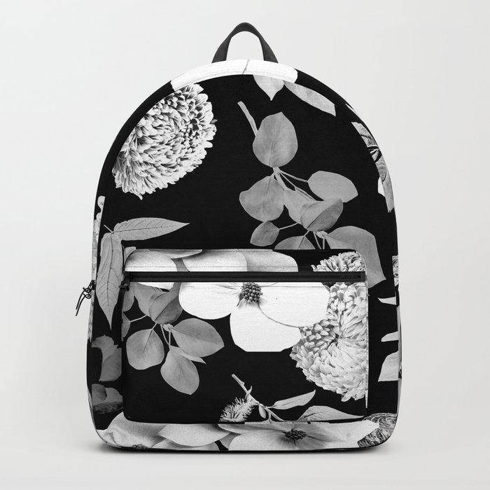 Night bloom - moonlit bw Backpack