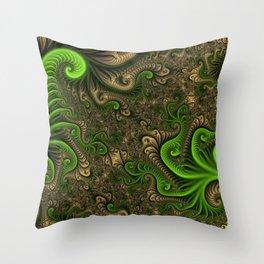 Fantasy World II, Abstract Fractal Art Throw Pillow