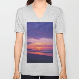 Broken sunset by #Bizzartino Unisex V-Neck