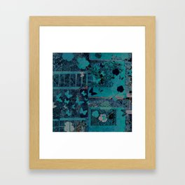 butterflies_I turquoise Framed Art Print