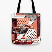 "dragonball z Tote Bags featuring ""Z"" by Grant Pearce"