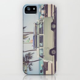 bus, van, beach, hippie, tropical, summer, travel, explore, adventure, wanderlust, travel van, boho iPhone Case