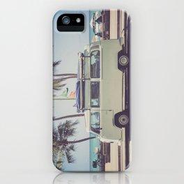 bus, van, beach, hippie, tropical, summer, travel, explore, adventure, wanderlust, travel van, boho iPhone Case