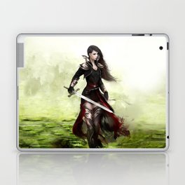 Lady knight - Warrior girl with sword concept art Laptop & iPad Skin