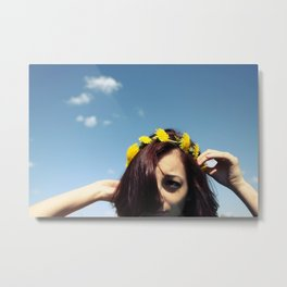 dandelion crown Metal Print