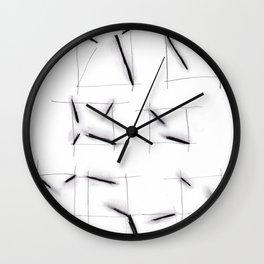 quadrats with diagonal lines Wall Clock