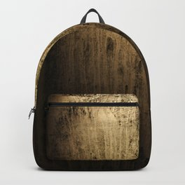 Old gold window at night Backpack