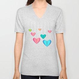 Hangin Hearts Unisex V-Neck