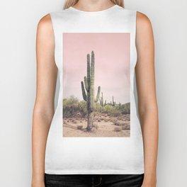 Blush Sky Cactus Biker Tank