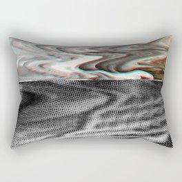 White Noise / Landscape / Gold Glitch #3 Rectangular Pillow
