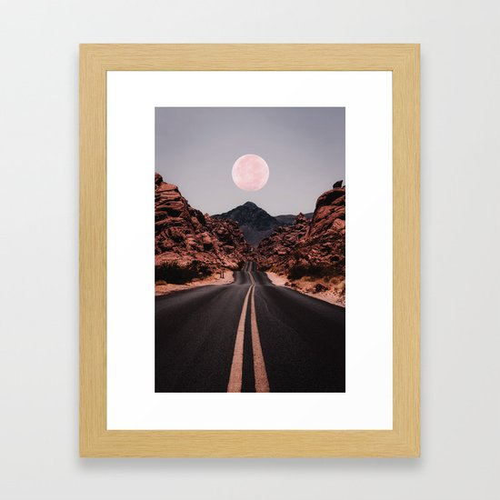 Road Red Moon by judithhoy