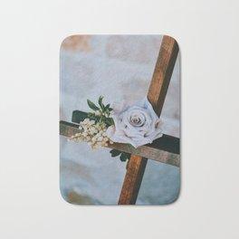 Rose on the Cross (Color) Bath Mat