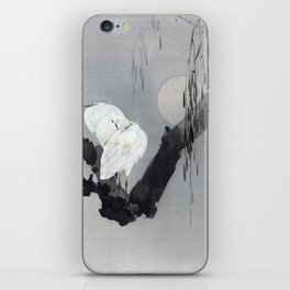 Watanabe Seitei Egrets in a Tree at Night iPhone Skin
