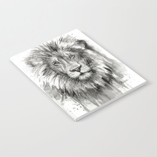 Lion Watercolor Animal Notebook