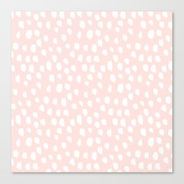 Hand drawn dots on pink - Mix & Match with Simplicty of life Canvas Print