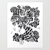 PEOPLE ASK ME EVERYWHERE IS THAT REALLY ALL YOUR HAIR; SOUL SISTAH Art Print