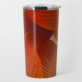 Leaves in Terracotta Color #decor #society6 #buyart Travel Mug