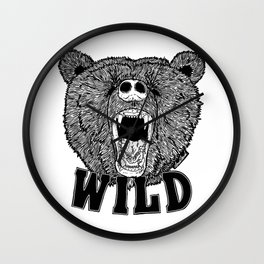 Bear Wild Wall Clock