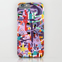 Abstract Graffiti Art Colors of Life by Emmanuel Signorino iPhone Case