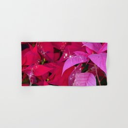 Christmas Poinsettia Photo Design Hand & Bath Towel
