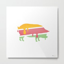 POP PIG Metal Print